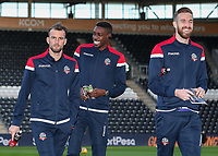 Bolton Wanderers' Christian Doidge, Sammy Ameobi and Mark Beevers pictured before the match<br /> <br /> Photographer Andrew Kearns/CameraSport<br /> <br /> The EFL Sky Bet Championship - Hull City v Bolton Wanderers - Tuesday 1st January 2019 - KC Stadium - Hull<br /> <br /> World Copyright © 2019 CameraSport. All rights reserved. 43 Linden Ave. Countesthorpe. Leicester. England. LE8 5PG - Tel: +44 (0) 116 277 4147 - admin@camerasport.com - www.camerasport.com