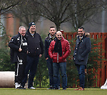 Ally McCoist with his guests at training today