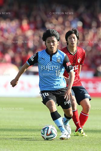 Ryota Oshima (Frontale), <br /> MAY 10, 2014 - Football /Soccer : <br /> 2014 J.LEAGUE Division 1 <br /> between Kawasaki Frontale 4-1 Kashima Antlers <br /> at Kawasaki Todoroki Stadium, Kanagawa, Japan. <br /> (Photo by AFLO SPORT) [1205]