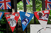 "The Royal Wedding of HRH Prince William to Kate Middleton. Republic ""not the royal wedding"" street party. Allegiances, but not to the crown. Photo credit should read"
