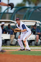 Logan Keller during the WWBA World Championship at the Roger Dean Complex on October 20, 2018 in Jupiter, Florida.  Logan Keller is a shortstop from Longwood, Florida who attends Lake Brantley High School and is committed to Alabama.  (Mike Janes/Four Seam Images)