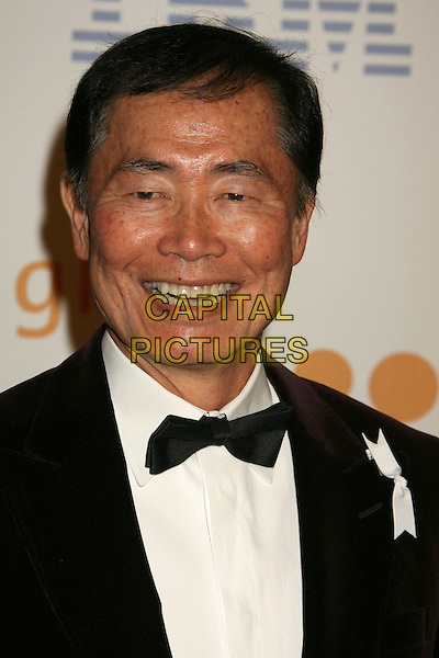 GEORGE TAKEI.20th Annual GLAAD Media Awards held at the Nokia Theatre, Los Angeles, California, USA..April 18th, 2009.headshot portrait black bow tie .CAP/ADM/MJ.©Michael Jade/AdMedia/Capital Pictures.