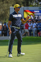 Rafael Cabrera Bello (ESP) after sinking his par putt on 9  during round 4 of the World Golf Championships, Mexico, Club De Golf Chapultepec, Mexico City, Mexico. 3/4/2018.<br /> Picture: Golffile | Ken Murray<br /> <br /> <br /> All photo usage must carry mandatory copyright credit (&copy; Golffile | Ken Murray)