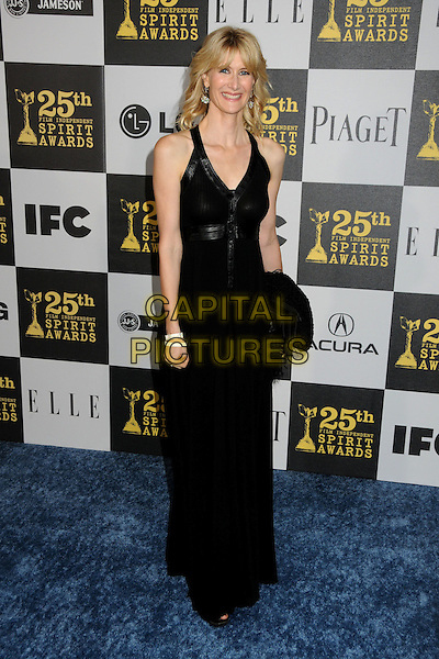 LAURA DERN.25th Annual Film Independent Spirit Awards - Arrivals held at the Nokia Event Deck at L.A. Live, Los Angeles, California, USA..March 5th, 2010.full length black = maxi dress.CAP/ADM/BP.©Byron Purvis/AdMedia/Capital Pictures.