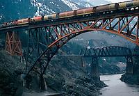 Railroad bridge over Frasier River, Lytton, BC Canada