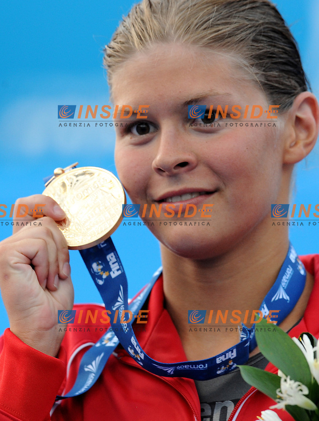 Roma 1st August 2009 - 13th Fina World Championships From 17th to 2nd August 2009....Swimming finals..Women's 800m freestyle..Lotte Friis (DEN) gold medal ....photo: Roma2009.com/InsideFoto/SeaSee.com