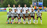 German team pose for a team photo with Tim Schreiber (1) , Marton Dardai (4) , Eric Martel (6) , Tim Lemperle (7), Jannis Lang (22) , Jonas Michel Dirkner (8) , Jan Thielmann (10) , Emilio Kehrer (9) , Mehmet Can Aydin (15) , Marvin Obuz (13) and Paul Nebel (11) during a friendly soccer game between the national teams Under19 Youth teams of Belgium and Germany on tuesday 8 th of September 2020  in Genk , Belgium . PHOTO SPORTPIX.BE | SPP | DAVID CATRY
