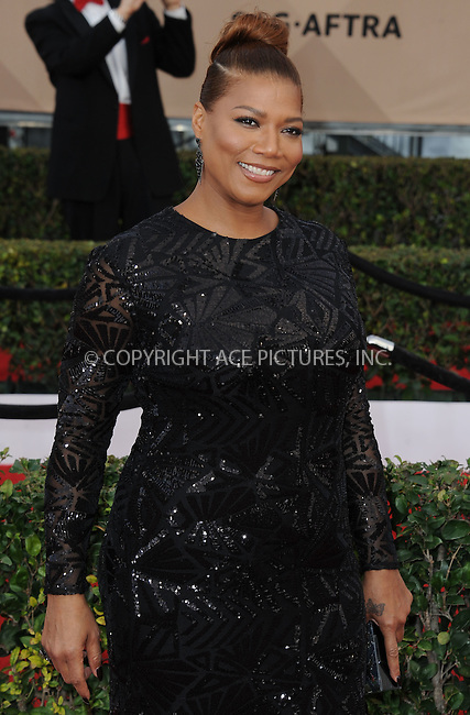 WWW.ACEPIXS.COM<br /> <br /> January 30 2016, LA<br /> <br /> Queen Latifah arriving at the 22nd Annual Screen Actors Guild Awards at the Shrine Auditorium on January 30, 2016 in Los Angeles, California<br /> <br /> By Line: Peter West/ACE Pictures<br /> <br /> <br /> ACE Pictures, Inc.<br /> tel: 646 769 0430<br /> Email: info@acepixs.com<br /> www.acepixs.com