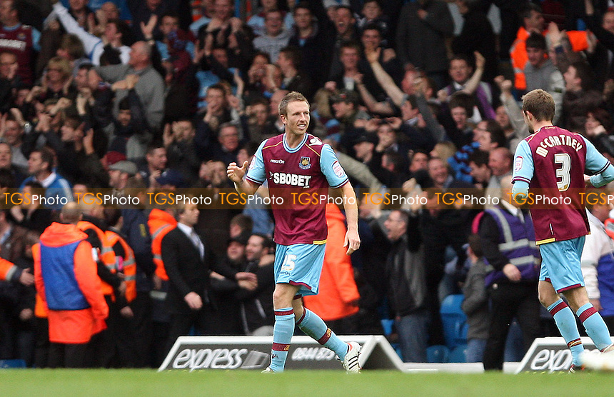 Danny Collins celebrates after scoring West Ham's goal - Leeds United vs West Ham United, npower Championship at Elland Road, Leeds - 17/03/12 - MANDATORY CREDIT: Rob Newell/TGSPHOTO - Self billing applies where appropriate - 0845 094 6026 - contact@tgsphoto.co.uk - NO UNPAID USE..