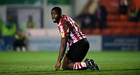 Lincoln City's John Akinde unsuccessfully appeals for a penalty<br /> <br /> Photographer Chris Vaughan/CameraSport<br /> <br /> The EFL Sky Bet League Two - Lincoln City v Exeter City - Tuesday 26th February 2019 - Sincil Bank - Lincoln<br /> <br /> World Copyright © 2019 CameraSport. All rights reserved. 43 Linden Ave. Countesthorpe. Leicester. England. LE8 5PG - Tel: +44 (0) 116 277 4147 - admin@camerasport.com - www.camerasport.com