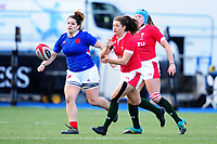Robyn Wilkins of Wales in action during the Women's Six Nations Championship Round 3 match between Wales and France at the Cardiff Arms Park in Cardiff, Wales, UK. Sunday 23 February 2020