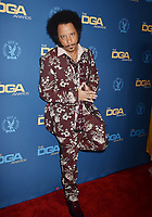 HOLLYWOOD, CA - FEBRUARY 02: Boots Riley attends the 71st Annual Directors Guild Of America Awards at The Ray Dolby Ballroom at Hollywood &amp; Highland Center on February 02, 2019 in Hollywood, California.<br /> CAP/ROT/TM<br /> &copy;TM/ROT/Capital Pictures