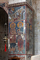 Israel,Jerusalem,St. Cross Monastery,Greek Orthodox Patriarchate,wall paintings,frescoes,Georgian kings