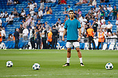 13th September 2017, Santiago Bernabeu, Madrid, Spain; UCL Champions League football, Real Madrid versus Apoel; Cristiano Ronaldo dos Santos (7) Real Madrid   during warm-up