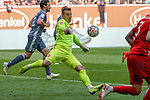 14.04.2019, Merkur Spielarena, Duesseldorf , GER, 1. FBL,  Fortuna Duesseldorf vs. FC Bayern Muenchen,<br />  <br /> DFL regulations prohibit any use of photographs as image sequences and/or quasi-video<br /> <br /> im Bild / picture shows: <br /> Michael Rensing Torhueter (Fortuna Duesseldorf #1),  <br /> <br /> Foto © nordphoto / Meuter