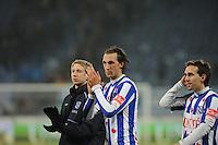 VOETBAL: SC HEERENVEEN: Abe Lenstra Stadion, 17-02-2012, SC-Heerenveen-NAC, Eredivisie, Eindstand 1-0, Geert Arend Roorda, Sven Kums, ©foto: Martin de Jong.