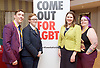 Stonewall and Liberal Democrats LGBTQ fringe meeting.<br /> Bournemouth, Great Britain <br /> 17th September 2017. <br /> <br /> Adrian Trett <br /> former chair of LGBT LibDems <br /> <br /> Ruth Hunt <br /> Chief Executive of Stonewall <br /> <br /> Jennie Rigg - Chair <br /> <br /> Jo Swinson <br /> Deputy Leader of the Liberal Democrats <br /> <br /> Photograph by Elliott Franks <br /> Image licensed to Elliott Franks Photography Services