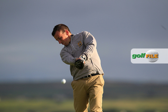 Declan King (Tramore) on the 2nd tee during Round 2 of the South of Ireland Amateur Open Championship at LaHinch Golf Club on Thursday 23rd July 2015.<br /> Picture:  Golffile | Thos Caffrey