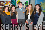 Sarah Hartnett, Clodagh Burn, Emma Leahy, Alannah McElligott, Shay McGaley. Mercy Mounthawk School Credit Union and St. Patricks and Presentation Schools Castleisland Credit Union at the Tralee Credit Union Awards night at the Manor West Hotel on Friday