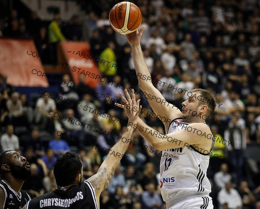Kosarka FIBA Champions League season 2016-2017<br /> Partizan v PAOK<br /> Novica Velickovic (R)<br /> Beograd, 08.01.2016.<br /> foto: Srdjan Stevanovic/Starsportphoto &copy;