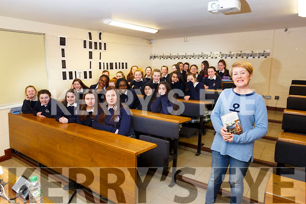 Presentation Secondary school, Tralee are holding the Love Literature Week in the school and author Roisin Meaney after doing a reading to a class on Monday last.