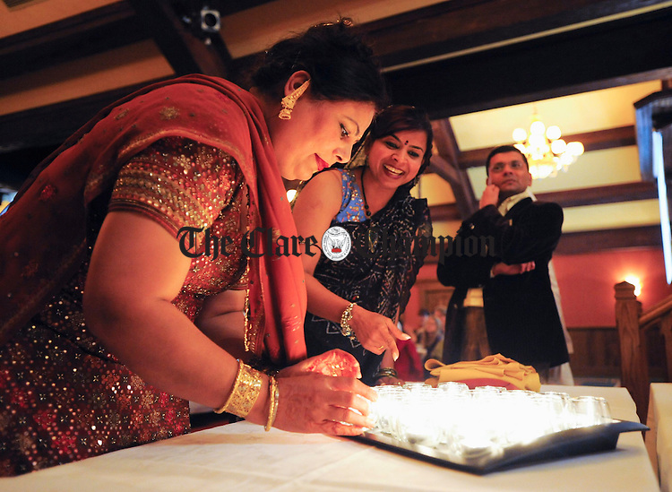 Candles are prepared at the Diwali, Festival Of Light organised by the Mid-West Indian Irish Society at the Oakwood Hotel Shannon. Photograph by John Kelly.