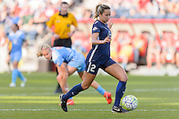 Bridgeview, IL, USA - Sunday, May 29, 2016: Sky Blue FC midfielder Shawna Gordon (2) during a regular season National Women's Soccer League match between the Chicago Red Stars and Sky Blue FC at Toyota Park. The game ended in a 1-1 tie.