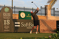 Thomas Bjorn (DEN) on the 18th tee during the Preview of the Saudi International at the Royal Greens Golf and Country Club, King Abdullah Economic City, Saudi Arabia. 29/01/2020<br /> Picture: Golffile | Thos Caffrey<br /> <br /> <br /> All photo usage must carry mandatory copyright credit (© Golffile | Thos Caffrey)