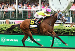 May 03, 2019 :#6 World of Trouble and jockey Manuel Franco win the 25th running of The Twin Spires Turf Sprint Grade 2 $250,000 for owner Michael Dubb, Madeket Stables and trainer Jason Servis at Churchill Downs on May 03, 2019.  Candice Chavez/ESW/CSM