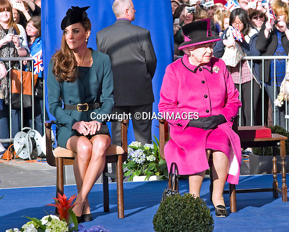 "KATE JOINS QUEEN AND DUKE ON START OF JUBILEE TOUR.Catherine, Duchess of Cambridge accompanied The Queen and Duke of Edinburgh to Leicester on the the start of their country wide Jubilee Tour_8 March 2012.Mandatory credit photo: ©Francis Dias/DIASIMAGES..(Failure to credit will incur a surcharge of 100% of reproduction fees)..                **ALL FEES PAYABLE TO: ""NEWSPIX INTERNATIONAL""**..IMMEDIATE CONFIRMATION OF USAGE REQUIRED:.DiasImages, 31a Chinnery Hill, Bishop's Stortford, ENGLAND CM23 3PS.Tel:+441279 324672  ; Fax: +441279656877.Mobile:  07775681153.e-mail: info@newspixinternational.co.uk"