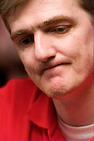 Conor Tate, one of the final 27 players, competes in the 36th annual World Series of Poker at Binion's Horshoe Hotel and Casino on July 14, 2005 in Las Vegas, Nevada. (Photo by Landon Nordeman)