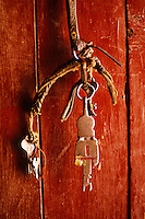 Key of a monastery door, Mustang Valley, Nepal, 2008