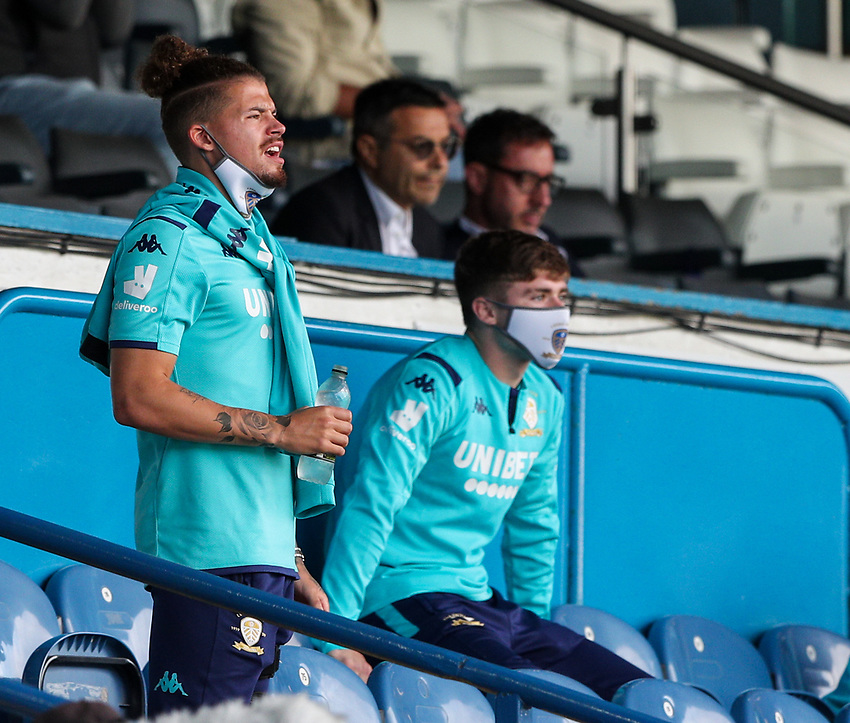 Leeds United's Kalvin Phillips watches on<br /> <br /> Photographer Alex Dodd/CameraSport<br /> <br /> The EFL Sky Bet Championship - Leeds United v Barnsley - Thursday 16th July 2020 - Elland Road - Leeds<br /> <br /> World Copyright © 2020 CameraSport. All rights reserved. 43 Linden Ave. Countesthorpe. Leicester. England. LE8 5PG - Tel: +44 (0) 116 277 4147 - admin@camerasport.com - www.camerasport.com
