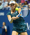September 2,2018:   Elise Mertens (BEL) loses to Sloane Stephens (USA) 6-3, 6-3 at the US Open being played at Billy Jean King Ntional Tennis Center in Flushing, Queens, New York.  ©Karla Kinne/Tennisclix/CSM