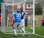 07.04.2019 Motherwell v Rangers: Jermain Defoe and Scott Arfield celebrate