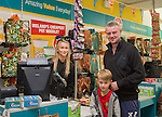 Dealz Fonthill Road . Staff Members .  Pat and Ryan Mitchell from Clondalkin with Leagh Creighton (staff)