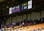 Port Vale 3 Doncaster Rovers 0, 22/08/2015. League One, Vale Park. Doncaster fans head for the exits after Port Vale's third goal scored in the 88th minute. Photo by Paul Thompson.