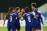 Japan Women's team group (JPN), <br /> SEPTEMBER 18, 2014 - Football / Soccer : <br /> Women's Group Stage <br /> between Japan Women's - Jordan Women's <br /> at Namdong Asiad Rugby Field <br /> during the 2014 Incheon Asian Games in Incheon, South Korea. <br /> (Photo by YUTAKA/AFLO SPORT)