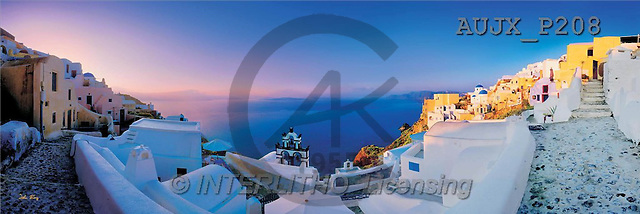 Dr. Xiong, LANDSCAPES, panoramic, photos, Town, Greece(AUJXP208,#L#)