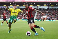 Emi Buendía of Norwich City tries to block the cross by Diego Rico of Bournemouth during the Premier League match between Bournemouth and Norwich City at Goldsands Stadium on October 19th 2019 in Bournemouth, England. (Photo by Mick Kearns/phcimages.com)<br /> Foto PHC/Insidefoto <br /> ITALY ONLY