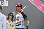 UAE Team Emirates at sign on before the start of Stage 4 a 202km very hilly stage running from Catania to Caltagirone, Sicily, Italy. 8th May 2018.<br /> Picture: LaPresse/Fabio Ferrari | Cyclefile<br /> <br /> <br /> All photos usage must carry mandatory copyright credit (&copy; Cyclefile | LaPresse/Fabio Ferrari)