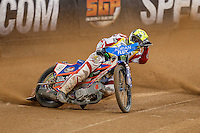 GREG HANCOCK (USA) in action during the 2016 Adrian Flux British FIM Speedway Grand Prix at Principality Stadium, Cardiff, Wales  on 9 July 2016. Photo by David Horn.