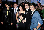 "HOLLYWOOD, CA. - February 24: Joe Jonas, Kevin Jonas Sr., Denise Jonas, Frankie Jonas, Kevin Jonas and Nick Jonas arrive at the Los Angeles premiere of ""Jonas Brothers: The 3D Concert Experience"" at the El Capitan Theatre on February 24, 2009 in Los Angeles, California."