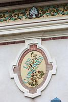 France, Calvados (14), Côte Fleurie, Houlgate: détail villa //  France, Calvados, Côte Fleurie, Houlgate: villa details