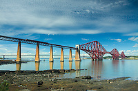 The Forth Rail Bridge from Dalmeny Eastate near South Queensferry, Lothian