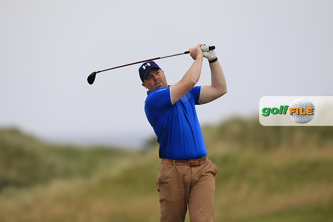 Paul Rouse (Dungannon) during Round 2 of the North of Ireland Amateur Open Championship 2019 at Castlerock Golf Club, Castlerock, Co. Antrim on Tuesday 9th July 2019.<br /> Picture:  Thos Caffrey / Golffile<br /> <br /> All photos usage must carry mandatory copyright credit (© Golffile   Thos Caffrey)