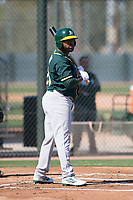 Oakland Athletics outfielder BJ Boyd (29) during Spring Training Camp on February 24, 2018 at Lew Wolff Training Complex in Mesa, Arizona. (Zachary Lucy/Four Seam Images)