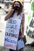 "Rome, 25/06/2020. Today, Meglio Legale (1.), Dolce Vita Magazine, Radicali, Cannabis Terapeutica, È Ora Di Legalizzare Le Droghe, Associazione Luca Coscioni, members of the Campaign #IoColtivo (I cultivate), supported by twenty cross-party Italian MPs, lefty political parties and members of the public held a demonstration outside the Chambers of Deputies of the Italian Parliament in Piazza Montecitorio to call for the legalization of Cannabis. From the organisers Facebook page (2.): «[…] After the ruling of the Court of Cassation that defines cultivation for personal use as ""not punishable"", Italy needs a law to regulate the matter. Parliament must listen to the over 6 million consumers and discuss the bills of the popular initiative already filed». Moreover, the Professor Marco Rossi of the Department of Social and Economic Sciences of the La Sapienza University of Rome «[…] calculated that if the cannabis market was regulated [in Italy, ndr] like that of tobaccos, the exchanges could emerge and allow the Treasury to collect about 3 billion Euros just in sales taxes. The state would also save around 600 million spent annually by the police, the judiciary, and the prison system to combat drug sales. According to Rossi, the approximately 350 thousand new employees would be employed in sales services and in cultivation […]» (3.).<br /> <br /> Footnotes & Links:<br /> 1. https://megliolegale.it/ & https://www.facebook.com/MeglioLegale/<br /> 2. http://bit.do/fGcmw <br /> 3. (Source, Repubblica.it ITA) http://bit.do/fGcmt<br /> 20.04.2017 - London 420 - Hyde Park 2017 With Lee Harris http://bit.do/fGcnB"