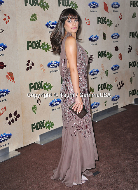 Lea Michele  at the  7th annual FOX Fall Eco-Casino Party in Los Angeles.