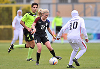 Monfalcone, Italy, April 26, 2016.<br /> USA's #17 Nighswonger passes the ball during USA v Iran football match at Gradisca Tournament of Nations (women's tournament). Monfalcone's stadium.<br /> &copy; ph Simone Ferraro / Isiphotos